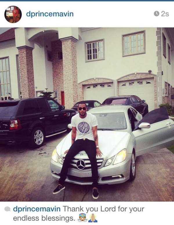 D'Prince Acquires Brand New Multi-Million Naira Luxury 2014 Mercedes Coupe