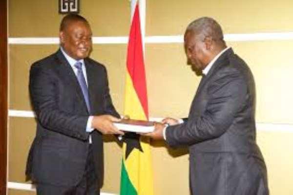 Dzamefe presents full report to President Mahama