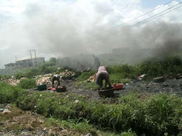 Abia: Where Meats Are Burn With Tyres Causing Heavy Environmental Pollution