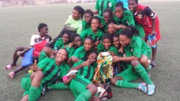 Hasaacas Ladies celebrating their win