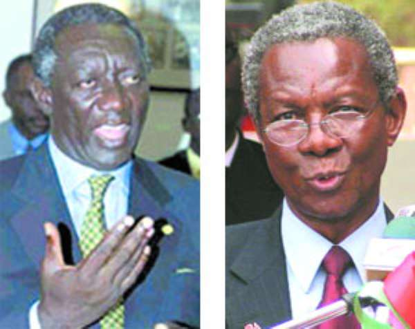 Echoes of incorruptible praise showered on MillsKUFUOR GOES BONKERS… But Kwame Pianim  still stands by assertion