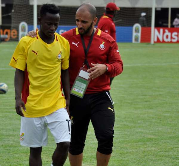 Omar Al Duri and Yaw Yeboah at the 2015 African Youth Championship