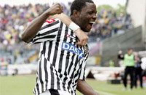 Asamoah says Udinese will come back