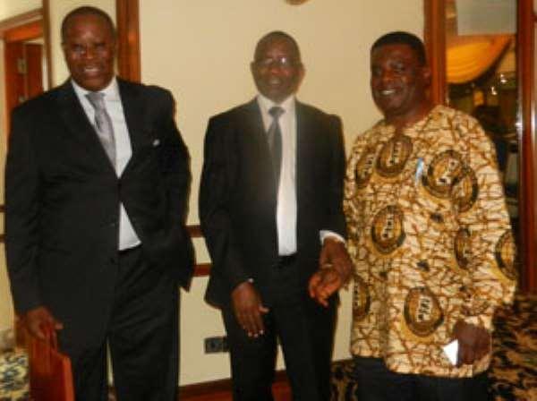 Dr Nortey K. Omaboe and Dr Kofi Mbiah