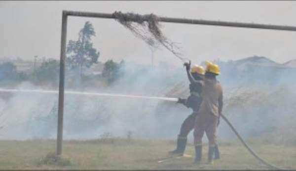 PHOTOS: Fire guts Asante Kotoko training grounds