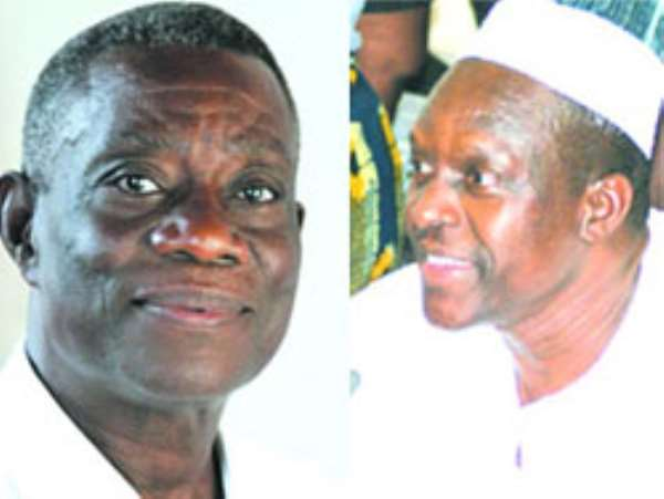 President John Atta Mills (left), Mr. Alban Bagbin, Minister for Water Resources, Works & Housing (right)