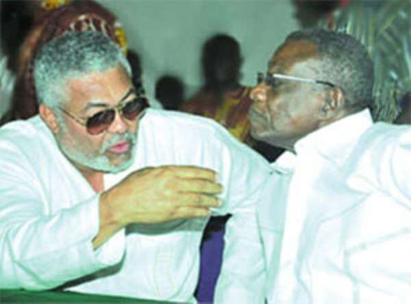 GOOD OLD DAYS! Jerry Rawlings and John Mills