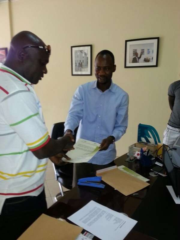 Bechem United and Authentic Sports signing an agreement.