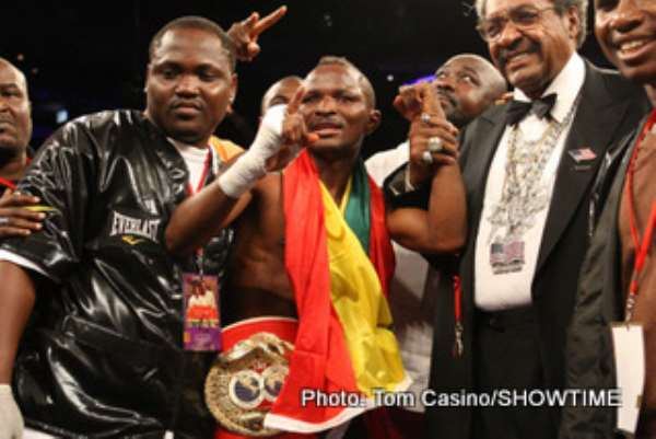 Library photo: Joseph Agbeko returns to Ghana with the title he lost to Perez