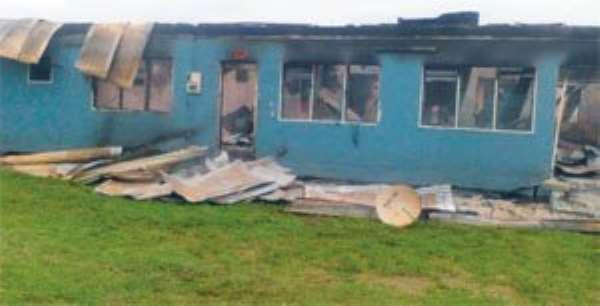 Tweapease Hospital Burnt