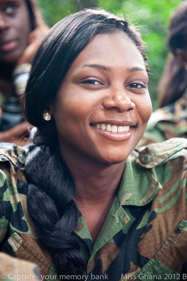 EMELIA AINOOSON AND DZIFA DELLOR EXIT MISS GHANA 2012