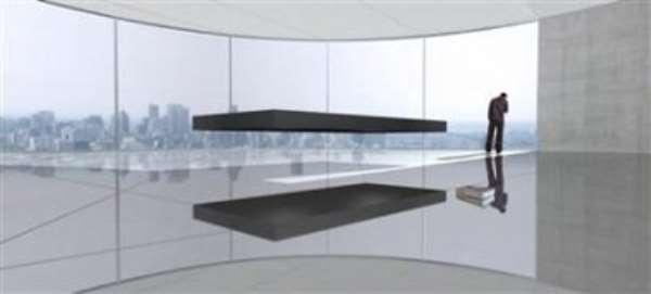 Designer creates floating bed