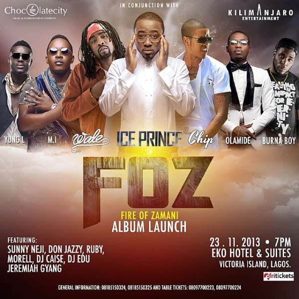 Wale And Chipmunk To Perform At Ice Prince's Fire Of Zamani Concert