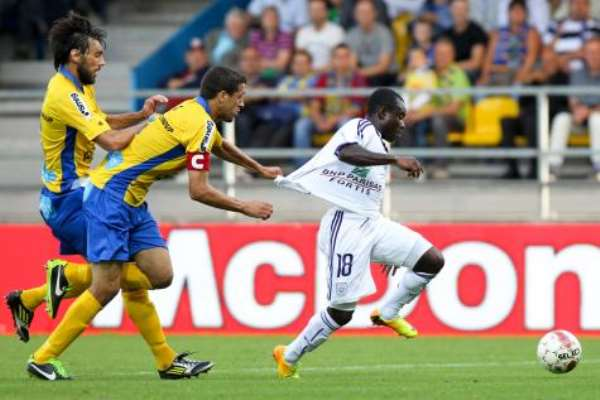 Frank Acheampong broke free to score the second goal for Anderlecht