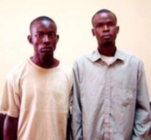 Timothy Osuolale (right) & Felix Edoburu
