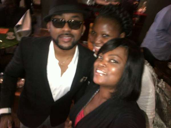 Funke Akindele, Banky W, Yaw In Coventry For Olympic Torch