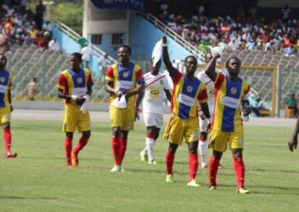 Accra Hearts of Oak players.
