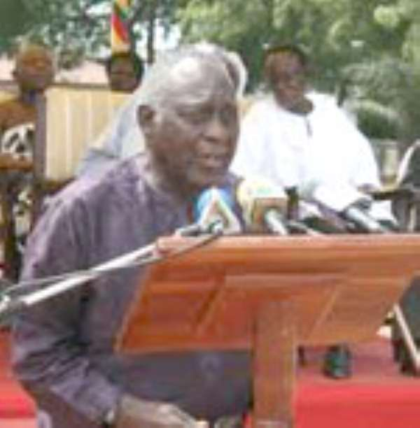 Professor Kofi Awoonor, Chairman of the Council of State