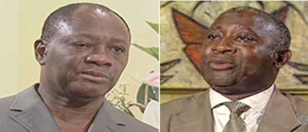 Alassane Ouattara and Laurent Gbagbo