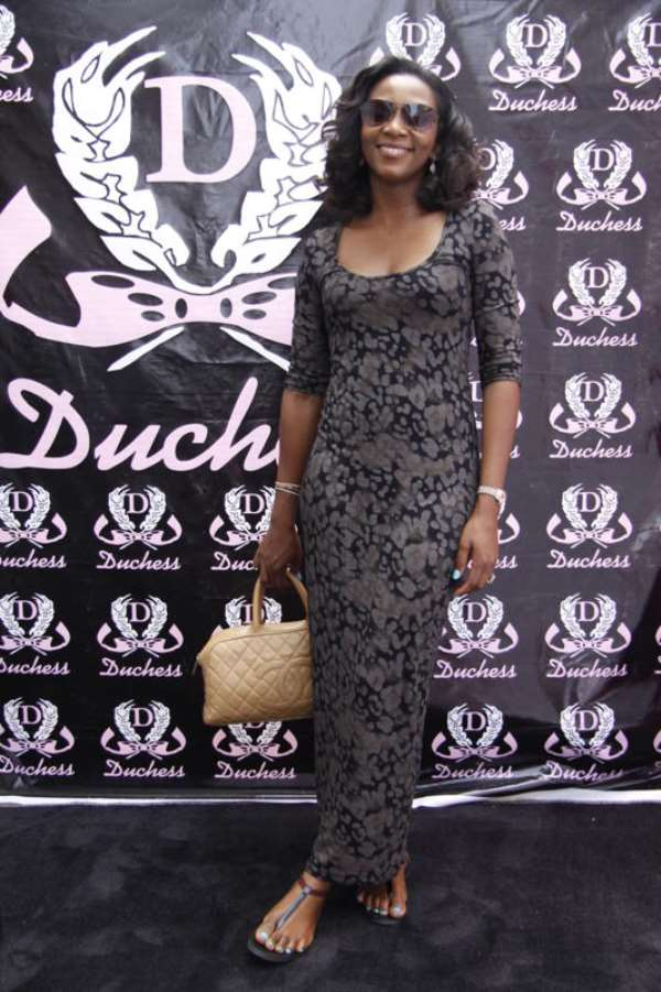 Genevieve Nnaji's casual red carpet style at Duchess Issa Dress Party