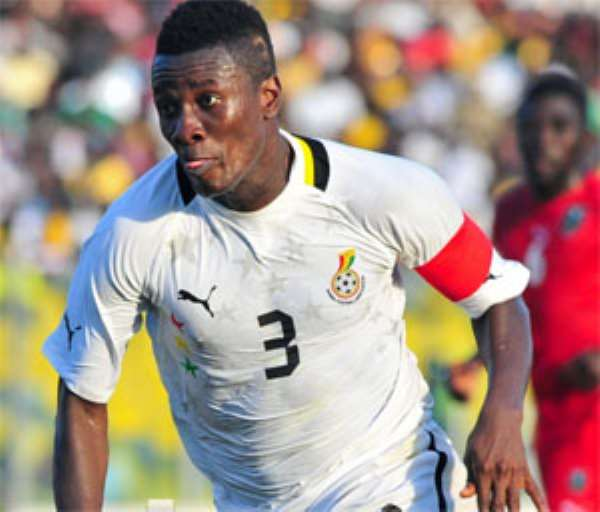 Ghana captain Asamoah Gyan could again face Uruguay in the opening games at the 2014 World Cup