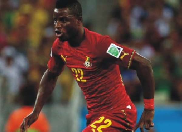 Ghana in red against Mauritius