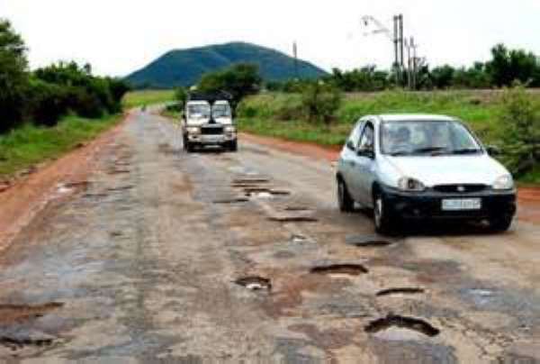 SOS Call: A Disaster Waiting To Happen With 5ft-Deep Twin Craters In The Middle Of A Major Road In Tamale