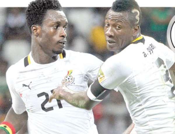 Ghana will miss defender John Boye for the second-leg against Egypt