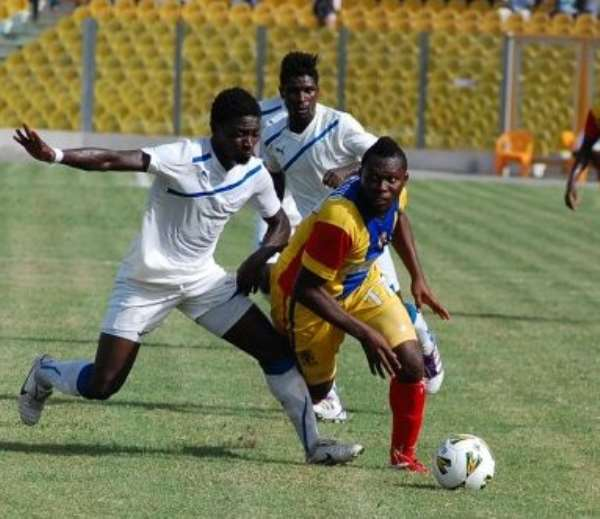 Gilbert Fiamenyo in action for Hearts of Oak