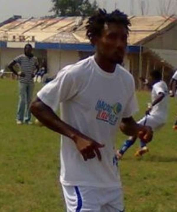 Bechem United player during warm up.