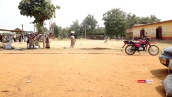 Donkorkrom Presby school, market operate on same land