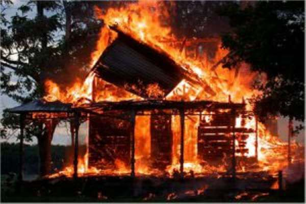 Hohoe clashes: Two houses burnt down during curfew hours