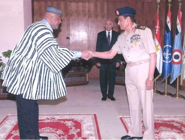 AMBASSADOR OF GHANA, H.E. ALHAJI SAID SINARE PRESENTS CREDENTIALS IN EGYPT
