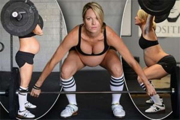 Dangerous? Lea-Ann Ellison, 35, caused much debate when she posted photos of herself lifting weights