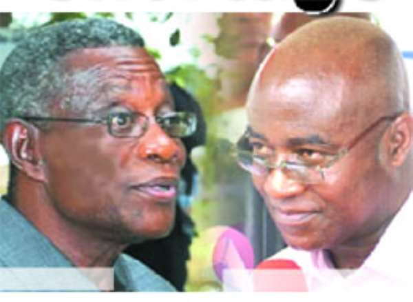 President Atta Mills (left), Osei-Kyei Mensah Bonsu (right)