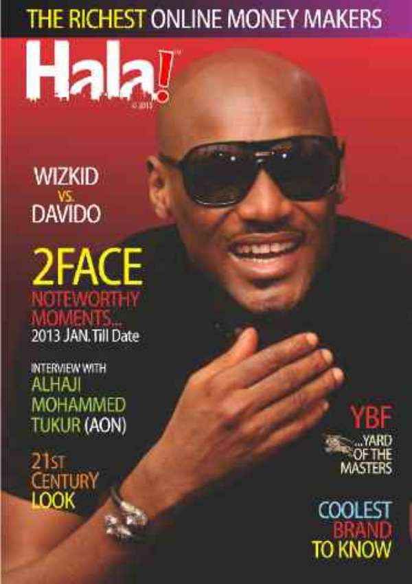 On The Face Of Halla Magazine Is 2Face