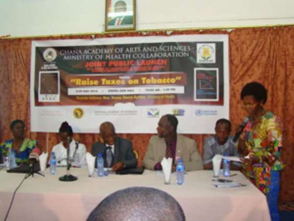 Sherry Ayittey(2nd left) with dignitaries at the event