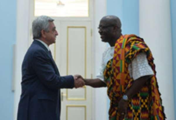 Ghana's Ambassador To Armenia Presents Credentials To President Sargsyan