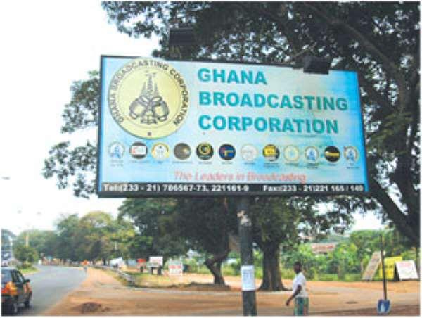 Entrance to Ghana Broadcasting Corporation