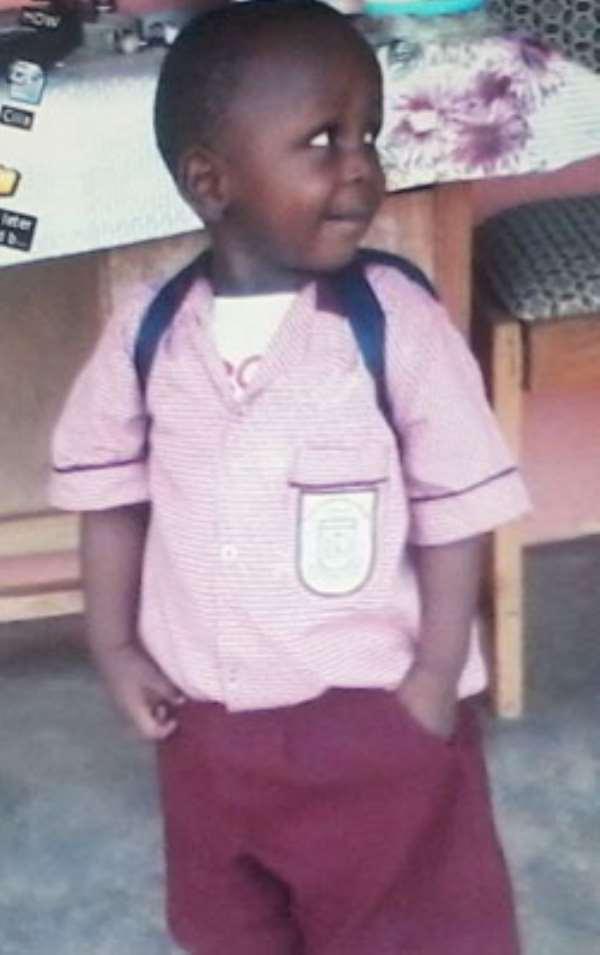 Owura Yaw Daniel, three year old orphan at the CILIA home