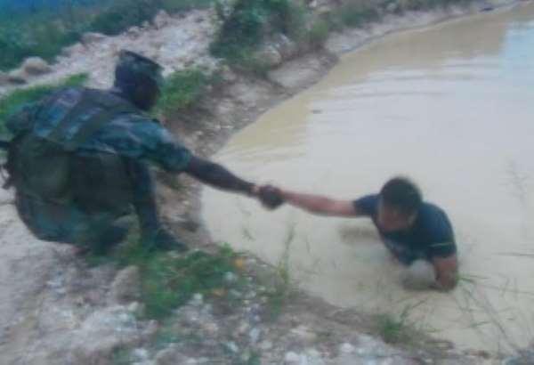 Anti-Galamsey taskforce saves Chinese miner from drowning