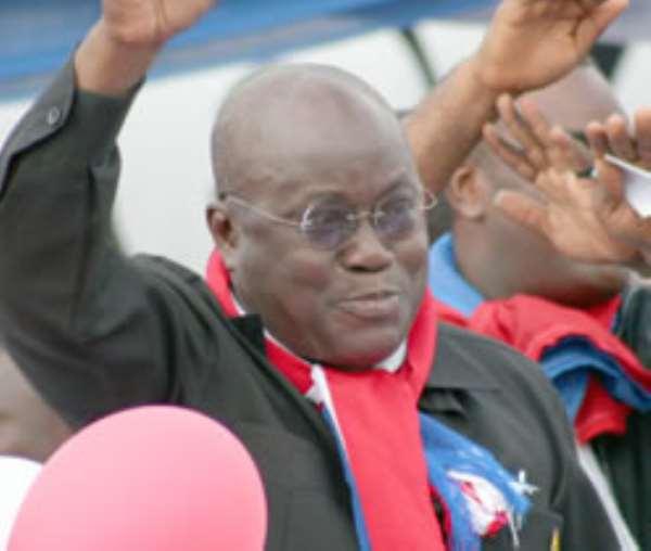 Nana Addo pleads NPP unity, damns critics, installs Bawumia in last sermon