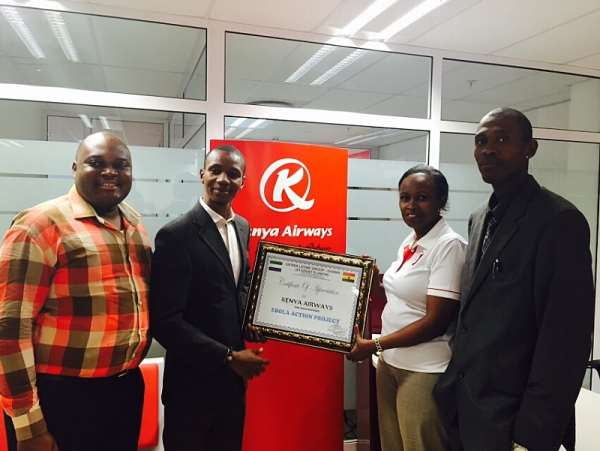 Kenya Airways Continues To Play A Key Role In Ebola Fight..