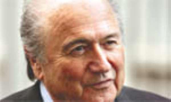Sepp Blatter Arrives