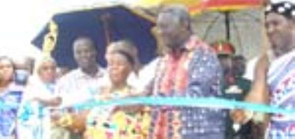 Kufuor Opens Nuts Factory