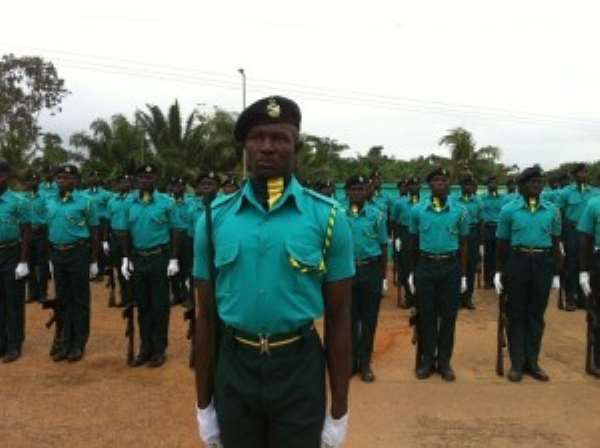 324 Immigration Recruits Pass Out  …Ahwoi Hints Of Desire To Halt Illegal Immigration To Ghana