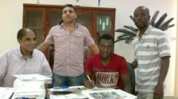 Kofi Nti-Boakye has signed a three-year deal to join Libyan club Al Ahli