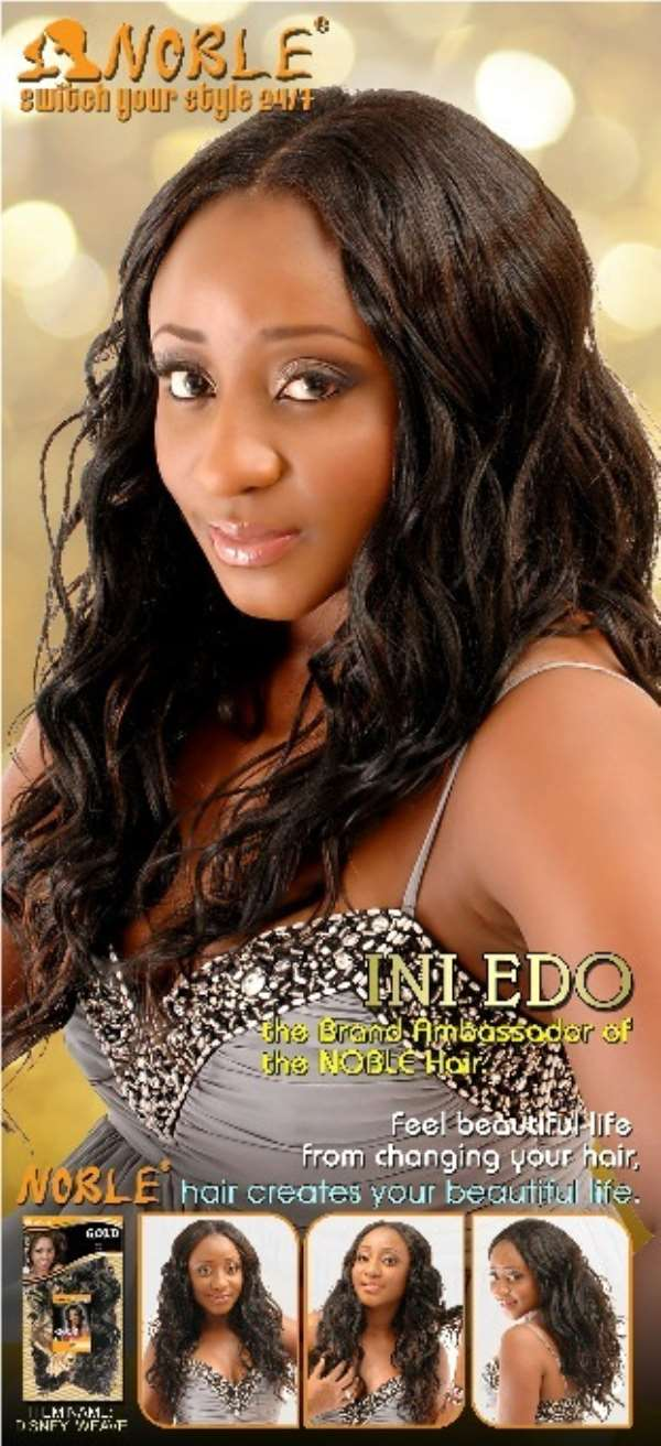Ini Edo is the new face of Noble Hair Extensions…Check out her Ad Campaign