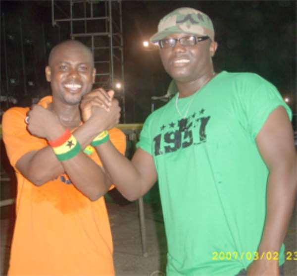 Abeiku Santana (left) and Bola Ray