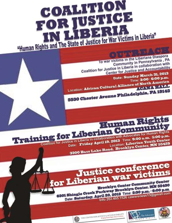 CJA Facilitates Human Rights & Justice Outreach withLiberian war victims in Philadelphia